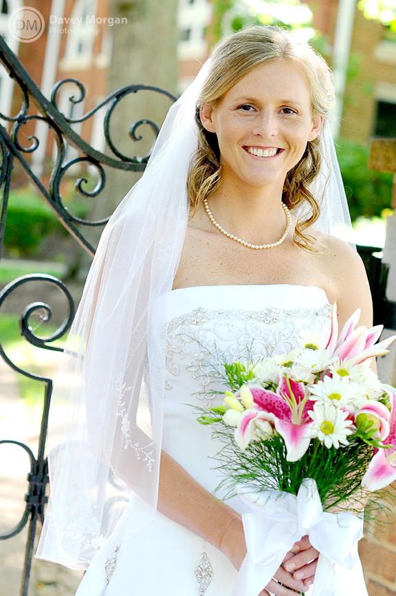 Erskine College campus bridal photo