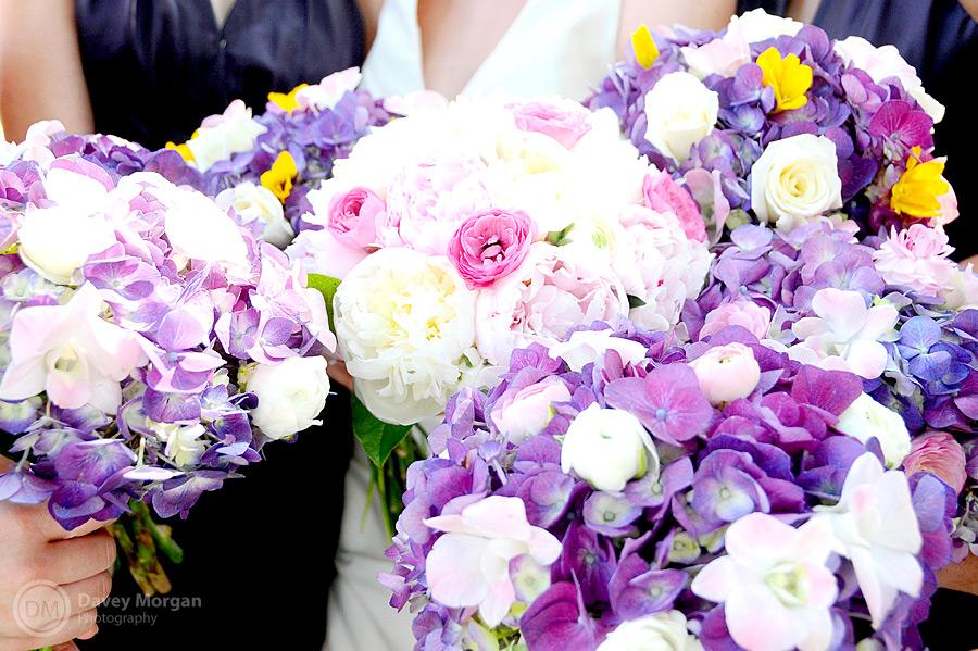 Bride and Bridesmaids Bouquets | Davey Morgan Photography