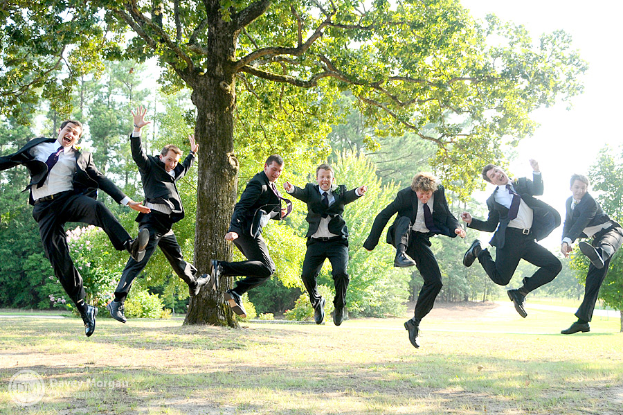 Groomsmen Jumping in the Air | Davey Morgan Photography