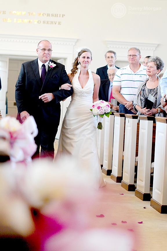 Bride walking down the aisle | Davey Morgan Photography