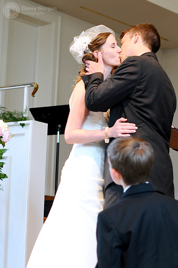 Bride and Groom's first kiss | Davey Morgan Photography