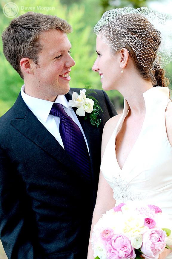 Bride and Groom Looking at Each Other | Davey Morgan Photography