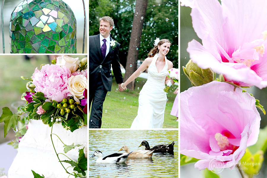 Bride and Groom running through bubbles at reception | Davey Morgan Photography