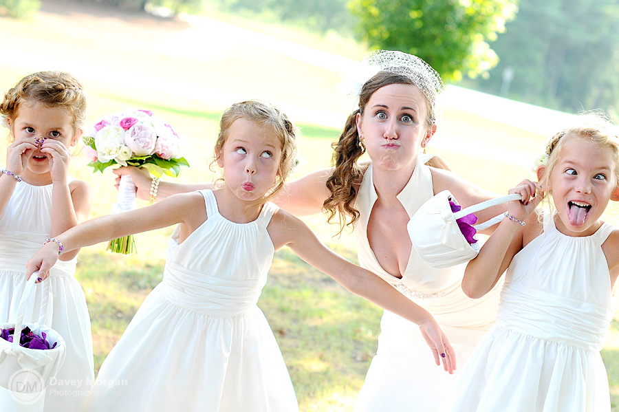 Silly Flower Girls and Bride | Davey Morgan Photography