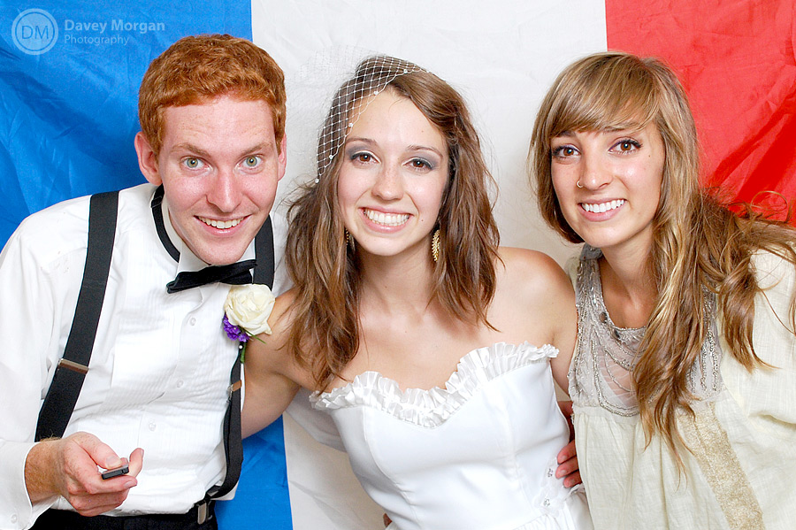French Flag in Photo Booth | Davey Morgan Photography