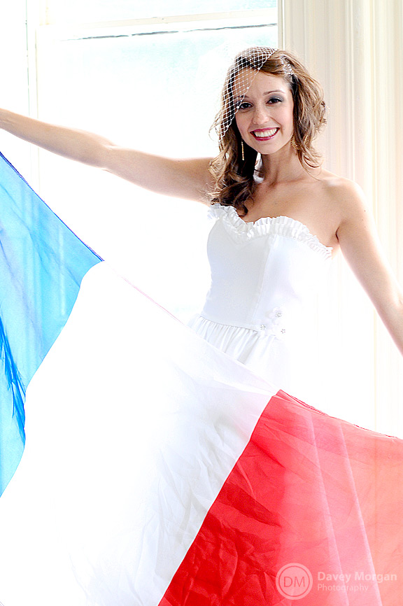 Bride with French Flag | Davey Morgan Photography