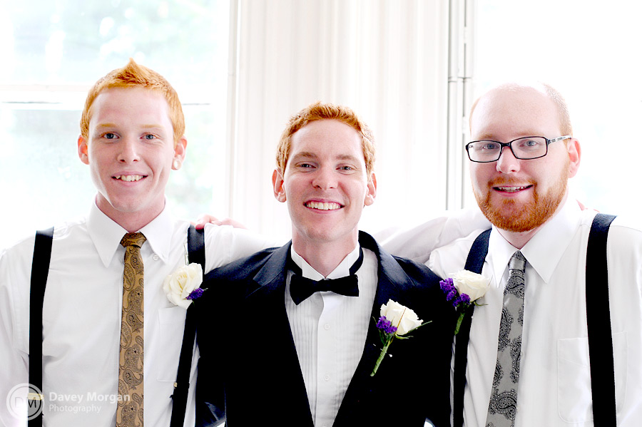 Groom and groomsmen in suspenders | Davey Morgan Photography