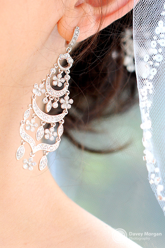 Earrings for Bride | Davey Morgan Photography