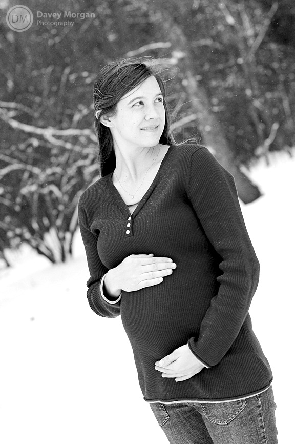 Maternity Pictures in Snow, Greenville, SC | Davey Morgan Photography