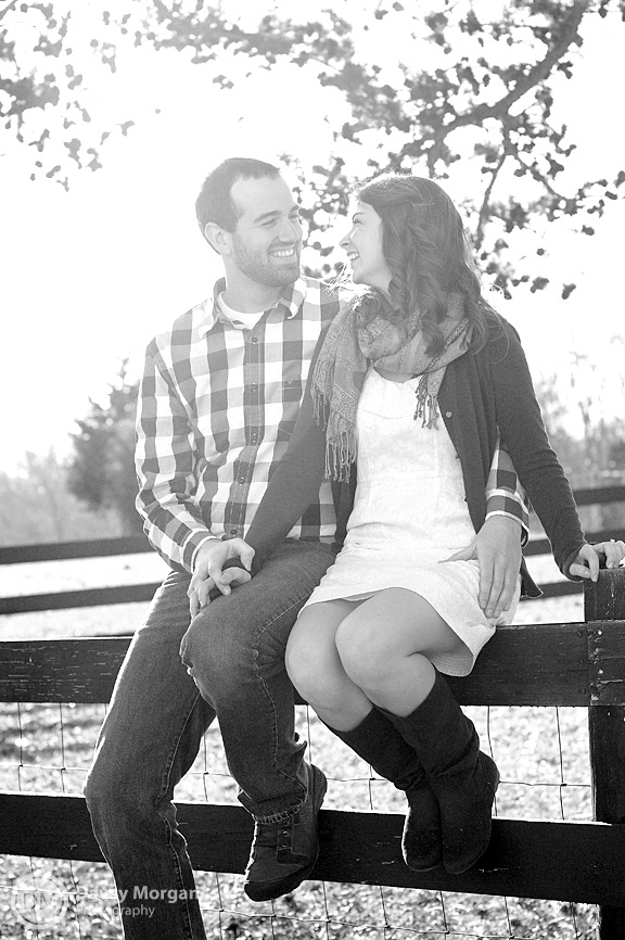 Couple sitting on fence | Greenville, SC | Davey Morgan Photography