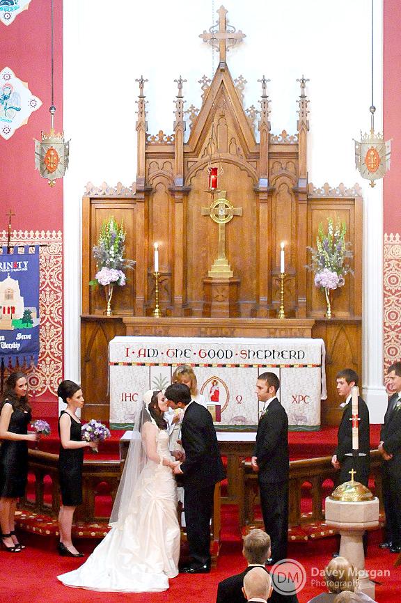 Wedding at Trinity Lutheran Church, Greenville, SC | Davey Morgan Photography