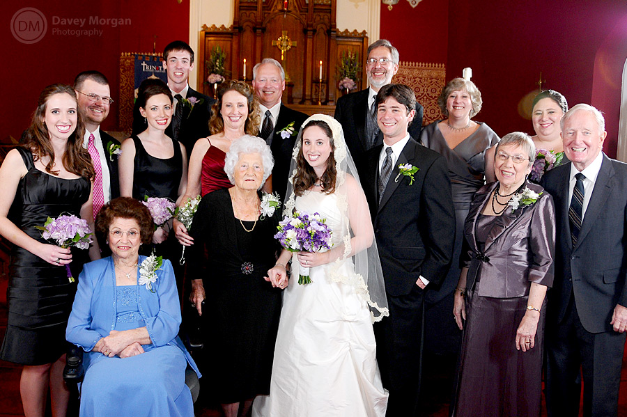 Family posing at wedding after ceremony | Davey Morgan Photography