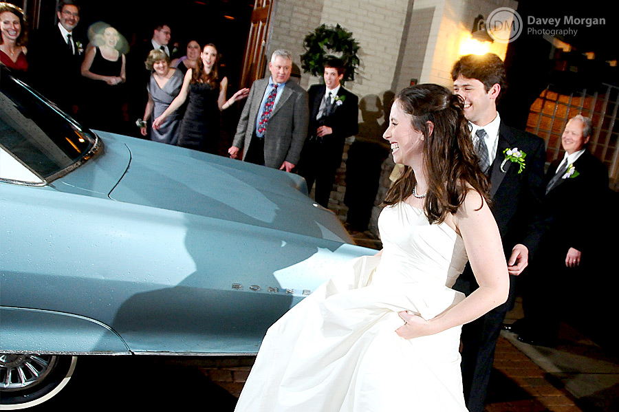 Bride and Grom leaving Wedding Reception, Greenville, SC | Davey Morgan Photography
