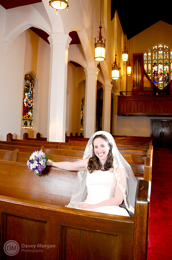 Bride in Old Church | Davey Morgan Photography
