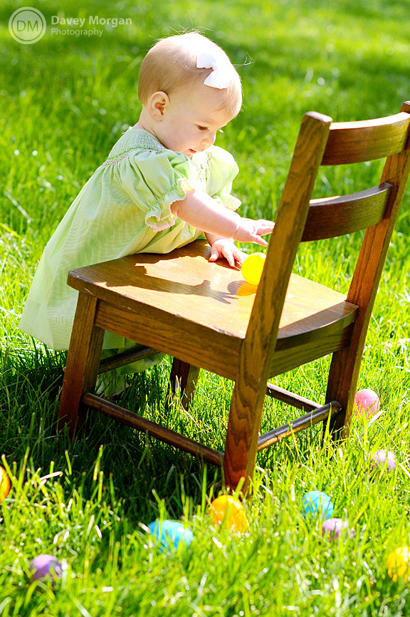 Baby Photographer in Greenville, SC | Easter Eggs | Davey Morgan Photography