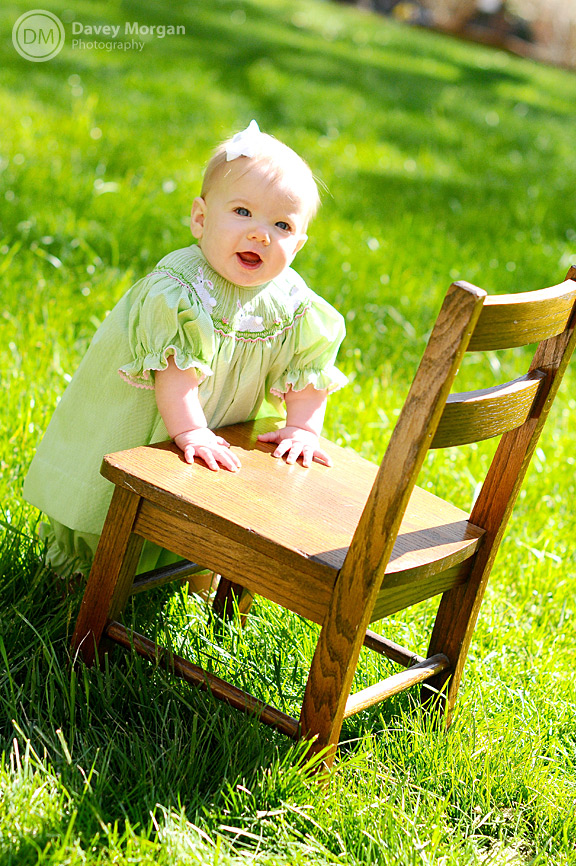 Baby Photographer in Greenville, SC | Baby Chair | Davey Morgan Photography
