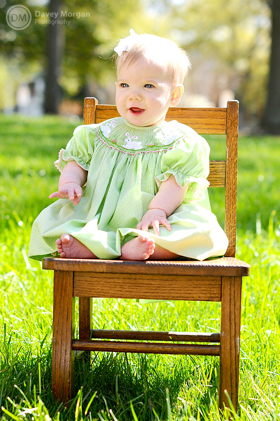 Baby Photographer in Columbia, SC | Baby Chair | Davey Morgan Photography