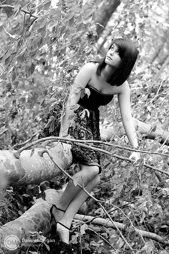 Fashion Photos in a tree | Greenville, SC | Davey Morgan Photography