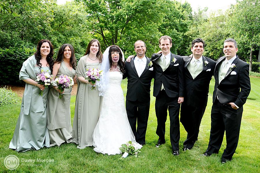 wedding party in falls park | Davey Morgan Photography