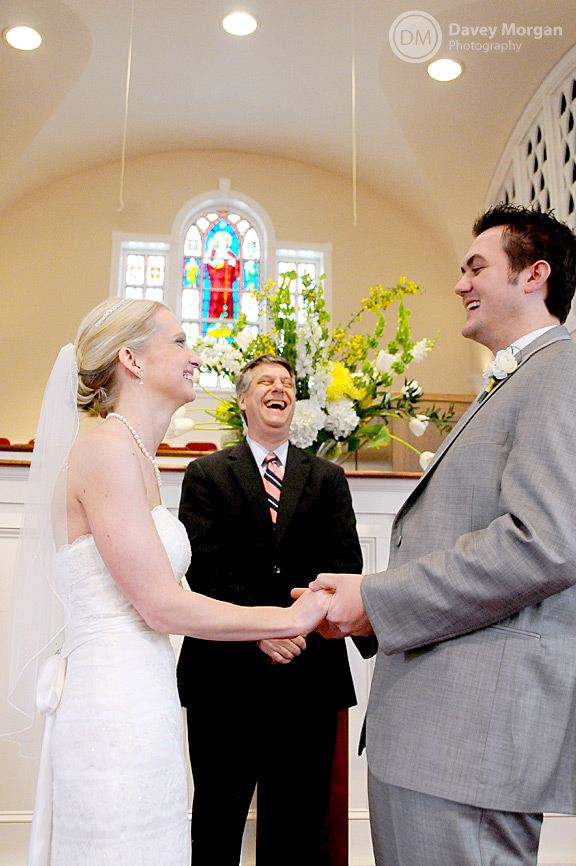 Pastor marrying bride and groom | Davey Morgan Photography