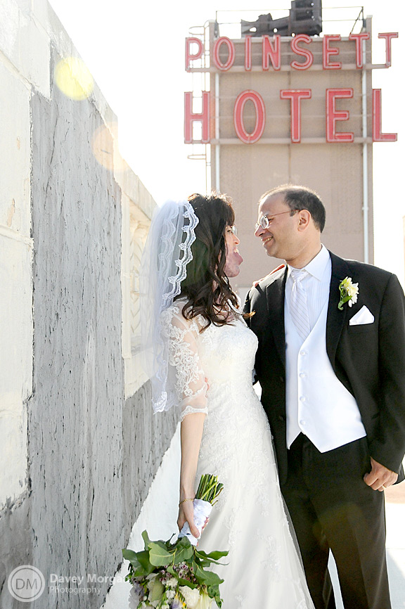 bride and groom on the westin poinsett roof | Davey Morgan Photography