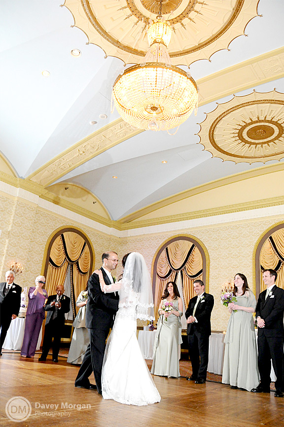 bride and groom in the gold room at the westin poinsett | Davey Morgan Photography