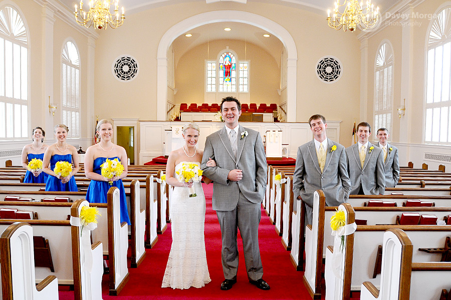 Wedding Party in the Church | Davey Morgan Photography