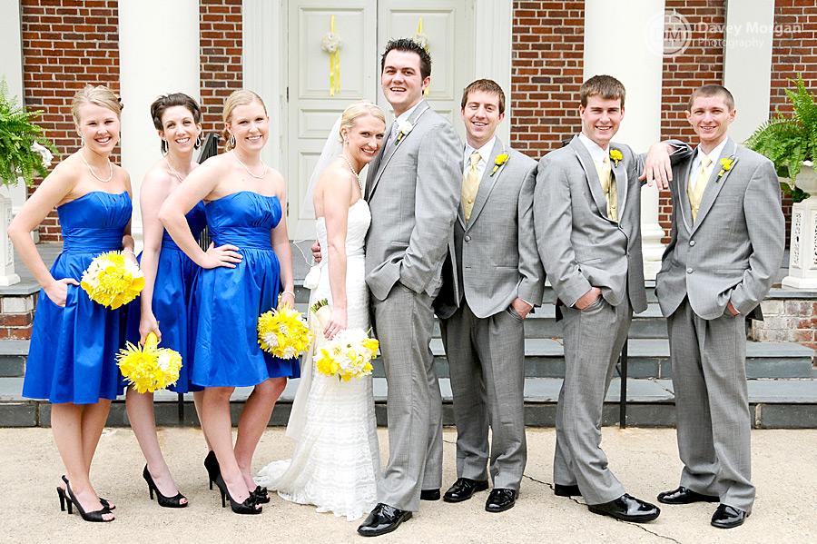Wedding Party outside the Church | Davey Morgan Photography