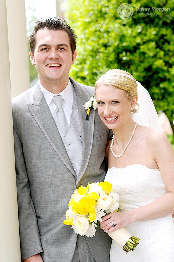 The happy bride and groom | Davey Morgan Photography