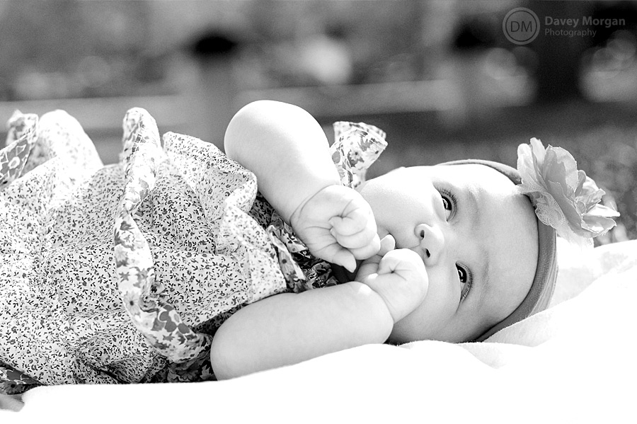 Black and white baby pictures | Davey Morgan Photography