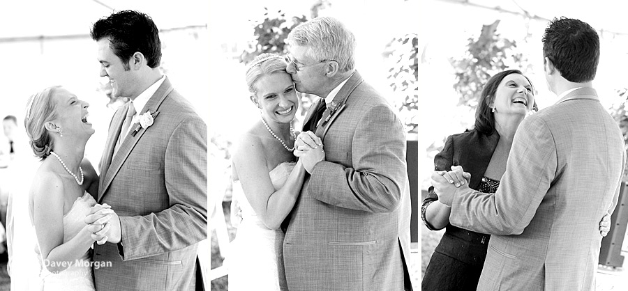 First dance, father and daughter dance, mother and son dance | Davey Morgan Photography