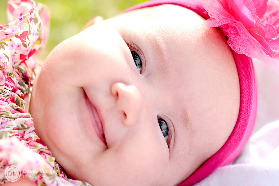 pictures of a baby girl wearing pink flowers | Davey Morgan Photography