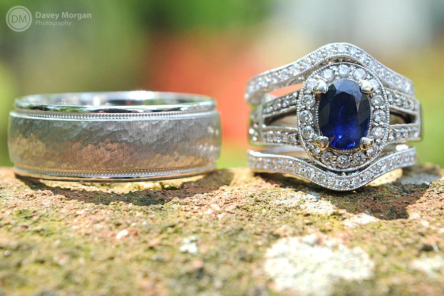 Wedding band, engagement and wedding ring | Davey Morgan Photography