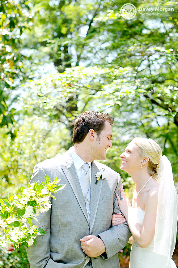 Bride and Groom smiling at each other | Davey Morgan Photography