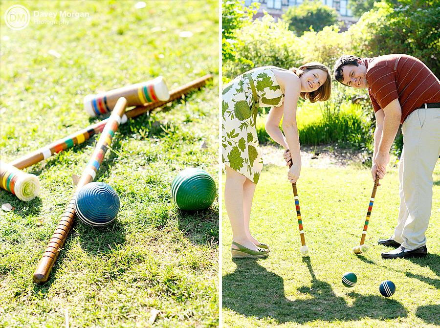 Croquet Engagement Pictures | Davey Morgan Photography
