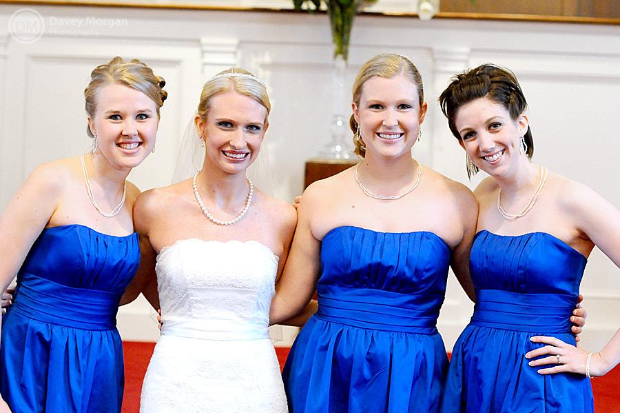 Bride and Bridesmaids in a Church | Davey Morgan Photography