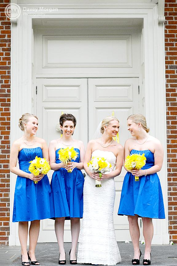 Bride and Bridesmaids laughing and smiling | Davey Morgan Photography