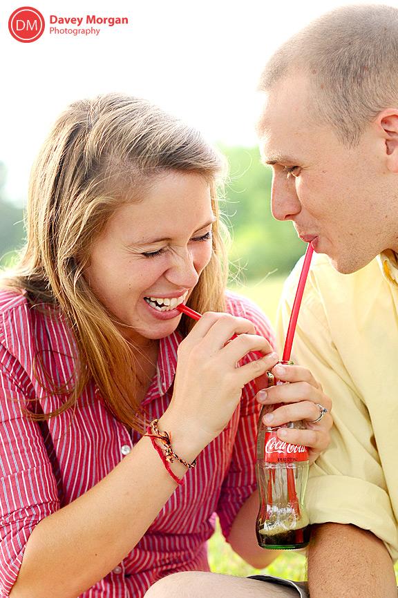 Couple drinking classic coca-cola | Davey Morgan Photography