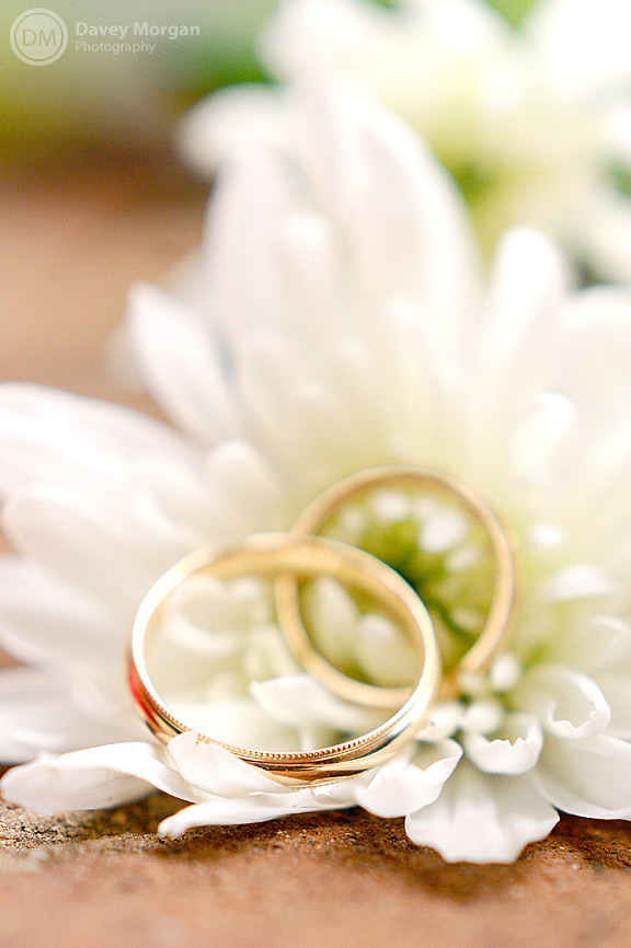 rings laying in flowers picture | Davey Morgan Photography