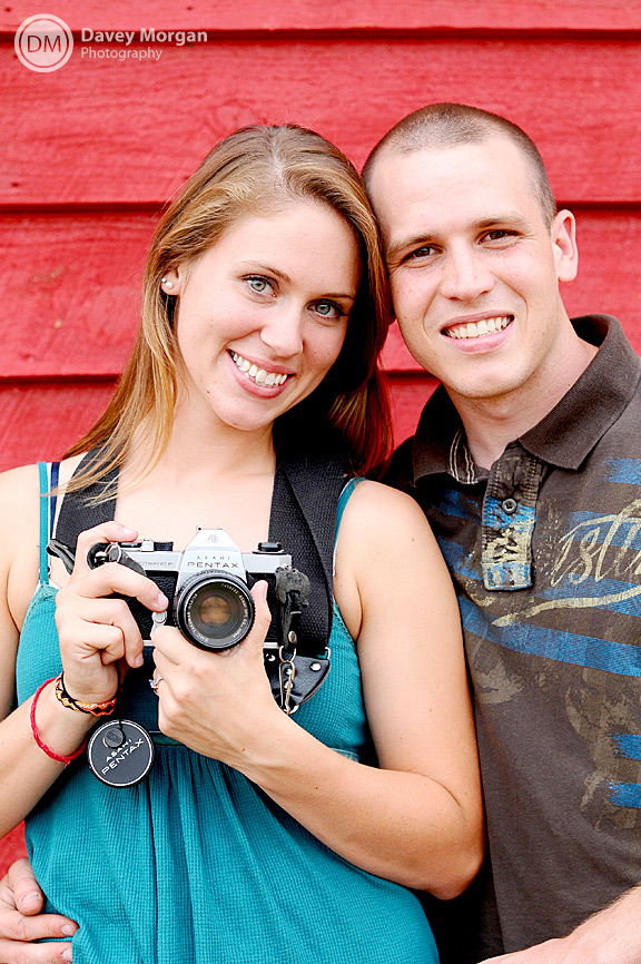 red barn engagement picture of a photographer  | Davey Morgan Photography