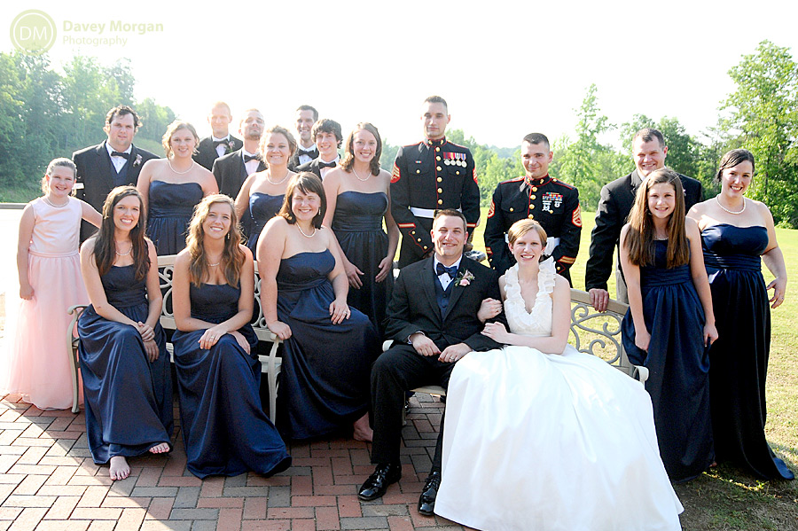 Bridal party picture outside | Davey Morgan Photography