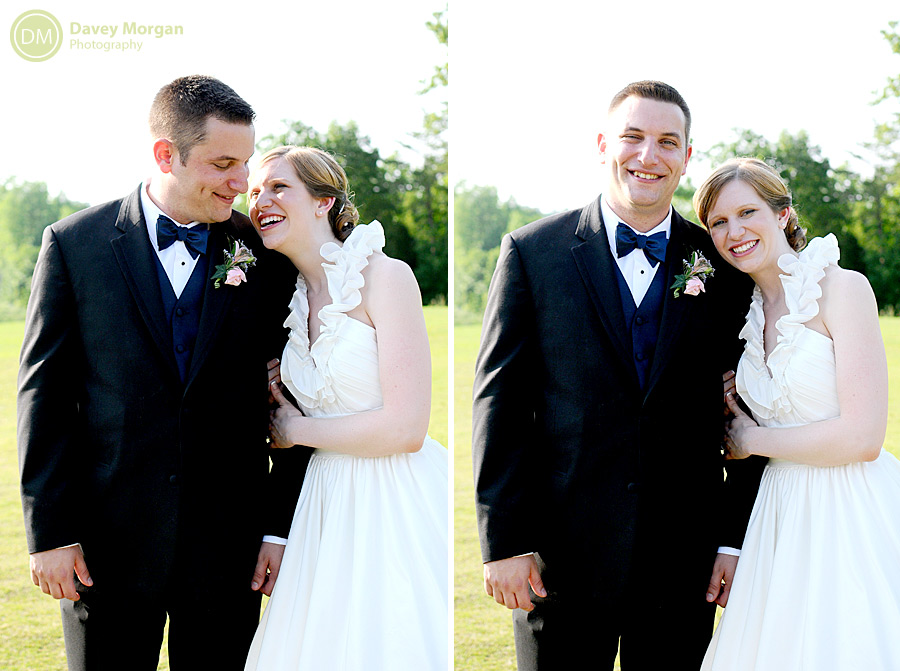 Bride and Groom on golf course | Davey Morgan Photography