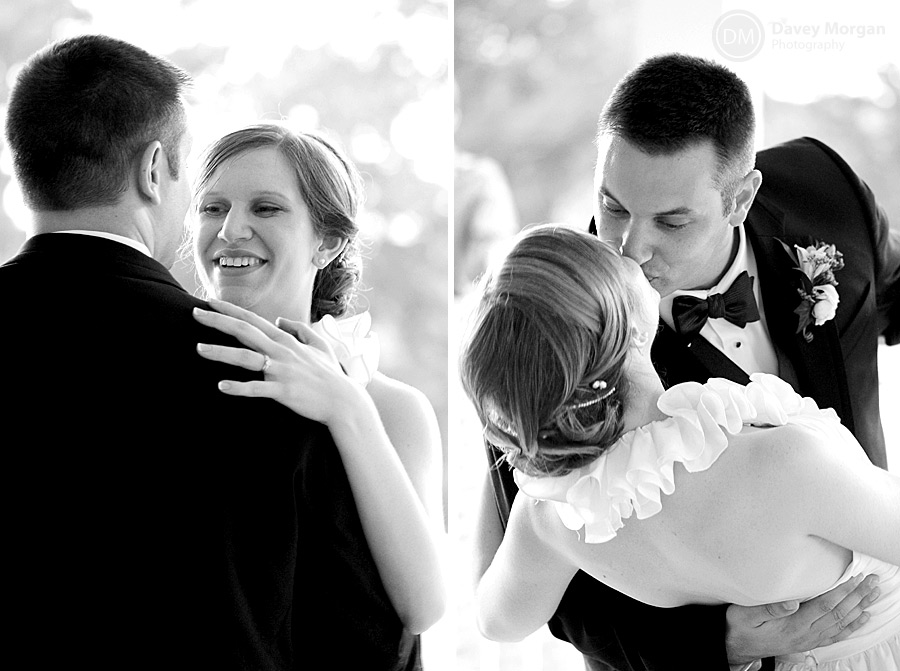 Bride and Groom dancing and dipping kiss | Davey Morgan Photography