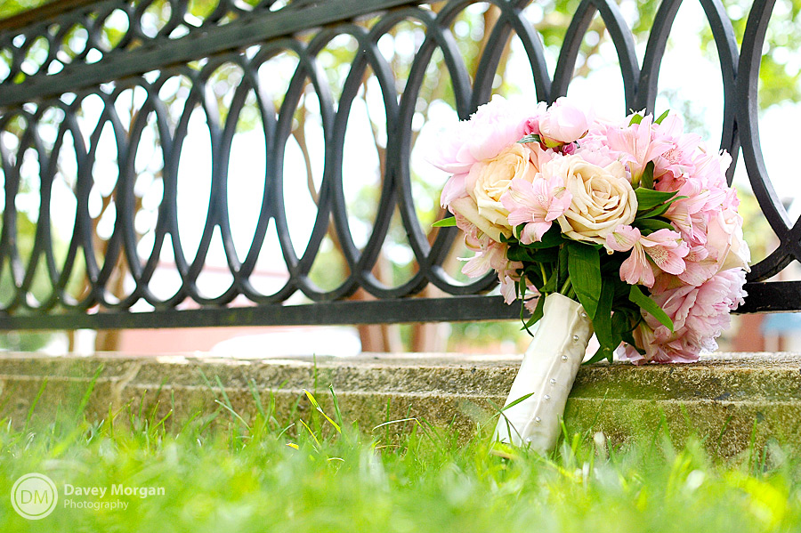 Bridal bouquet in grass | Davey Morgan Photography