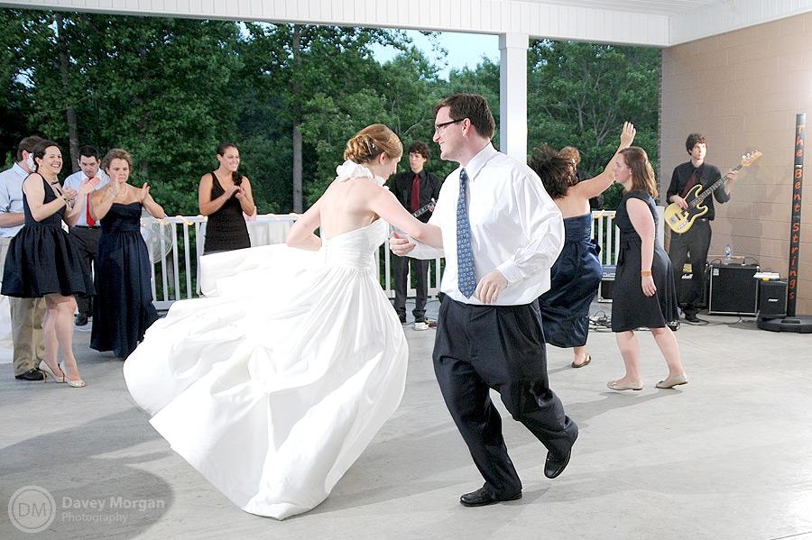 Dancing and fun at wedding reception | Davey Morgan Photography
