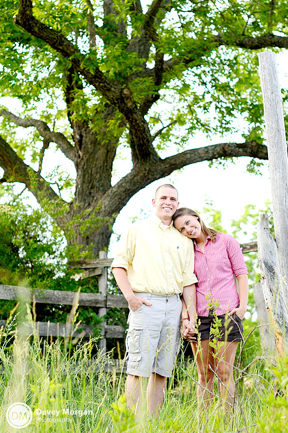 Engagement pictures on a farm | Davey Morgan Photography