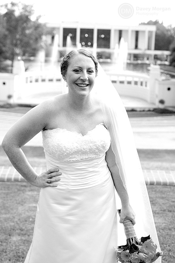 Bride on Clemson University Campus Pictures | Davey Morgan Photography