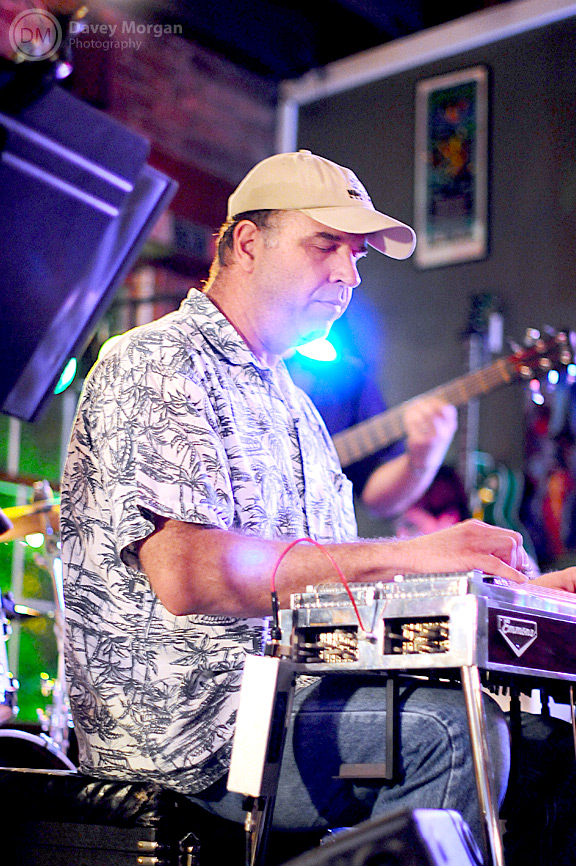 Playing pedal steel at Chicora Alley, downtown Greenville, SC | Davey Morgan Photography