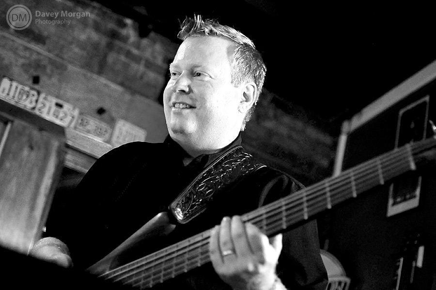 Bass player at Chicora Alley, downtown Greenville, SC | Davey Morgan Photography