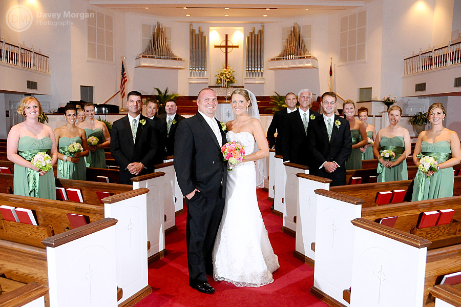 Bride and Groom with wedding party | Davey Morgan Photography